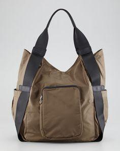 Haylee Nylon Hobo Bag Khaki By Co Lab Christopher Kon At Neiman Marcus