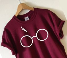 HARRY POTTER INSPIRED GLASSES AND LIGHTNING T-SHIRT SCREEN PRINTED FOR A…