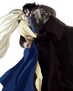 Daenerys Targaryen and Jon Snow by ANST2010.deviantart.com on @deviantART