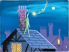 Peter Pan - Peter on the Darling's roof - Mary Blair concept art | Flickr - Photo Sharing!