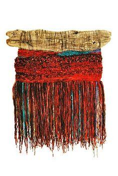 Arte Textil Marianne Werkmeister: El Sueño del Volcán Weaving Textiles, Weaving Art, Loom Weaving, Tapestry Weaving, Weaving Wall Hanging, Hanging Wall Art, Yarn Wall Art, Fibre And Fabric, Textile Fiber Art