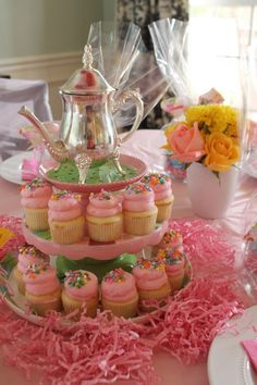 Girls Tea Party On A Budget - Passionate Penny Pincher Royal Tea Parties, Fairy Tea Parties, Girls Tea Party, Princess Tea Party, Tea Party Cupcakes, Tea Party Theme, 3rd Birthday Parties, Birthday Ideas, 4th Birthday