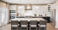 White Cabinets White Countertops, Gray And White Bathroom, Toll Brothers, Kitchen Models, Eat In Kitchen, New Homes For Sale, Formal Living Rooms, Florida Home, Large Homes