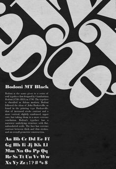 Bodoni Poster 3 by MoonlitxReverie
