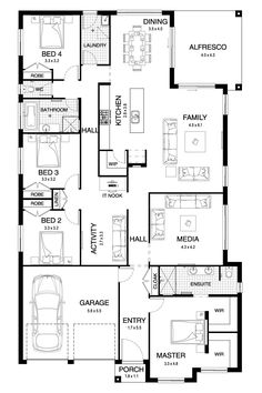 Sierra 29 - Single Level - Floorplan by Kurmond Homes - New Home Builders Sydney NSW