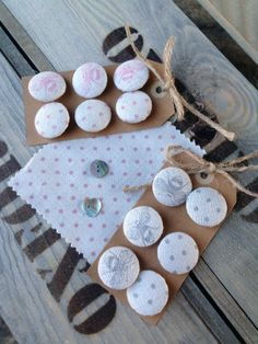 Gorgeous covered buttons by Peony & Sage, handmade by Clarabelle Interiors. To order please email sales@peonyandsage.com £6.95 for 6.