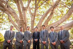 Wedding photography of the groom and his groomsmen at a hotel in Los Angeles California. www.danielnealphotography.com