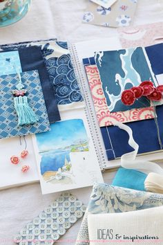 yummy blues, reds and turquoise! my fav's! #papercrafts, #palette, #inspiration