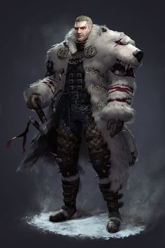 Male - Warrior (Polarbear mantle)