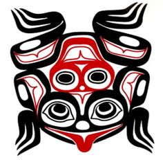 Get informed about some First Nations Animals Symbology and Legends. You can also purchase merchandise related to these Animals Symbology and Legends. Native American Totem, Native American Design, Native Design, Haida Kunst, Haida Art, Native Indian, Native Art, Indian Tribes, Totem Pole Art