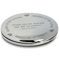Personalised Gorgeous Bride Compact Mirror :: The perfect gift on her special day - Engraved with a unique message - Fast UK Delivery. Personalized Gifts For Her, Engraved Gifts, Personalized Wedding, Mother Of The Bride Handbags, Bride Gifts, Wedding Gifts, Wedding Ideas, Wedding Favours, Christening Gifts