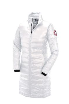 Canada Goose Camp Down Coat - Women's White Small, Ladies that live at high latitudes and elevated altitudes turn to the Canada Goose Women's Camp Down Coat for stylish warmth. This longer coat's lightweight, compressible shell is packed with Goods, Canada Goose Logo, Canada Goose Women, Canada Goose Jackets, Coats For Women, Jackets For Women, Women Camping, Vintage Leather Jacket, Womens Parka, Down Coat