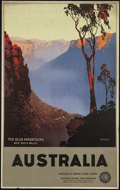 Vintage travel poster, Australia