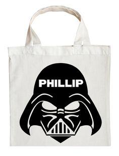 Darth Vader Trick or Treat Bag - Personalized Darth Vader Halloween Bag #darth-vader-halloween-accessory #darth-vader-halloween-bag #darth-vader-trick-or-treat-bag