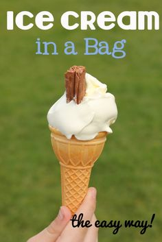 Ice cream in a bag recipe.  Kids get to be involved in making this delicious treat
