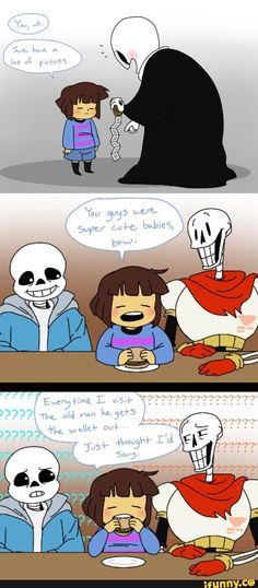 """sans is genuinely worried and papyrus is like """"sans wtf is a baby"""""""