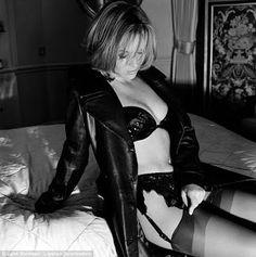 Leather Coat Daydreams: Amanda Holden for Maxim 1998