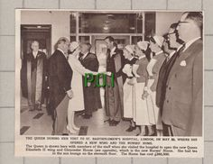 (4398) St Bartholomew s Hospital London Queen Visit   - 1961 Clip