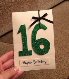 A simple card was made for the birthday of a 16-years old friend.  #Birthday #friend #Handmade #Card