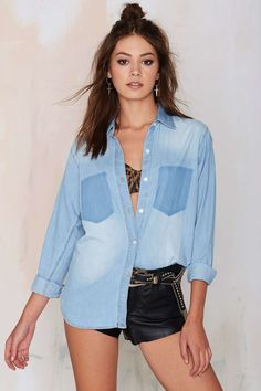 Jordan Distressed Chambray Shirt | Shop Clothes at Nasty Gal!