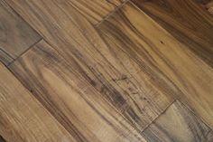 "Acacia Natural 3/8 x 5"" Hand Scraped   Engineered Hardwood Flooring   WeShipFloors"