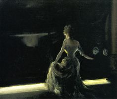 Everett Shinn (American, 1876-1953), Girl on Stage, 1906 (Grandma sang with her sister Marie in the St Mungo's Cathedral in Glasgow. She had so much charisma & presence.