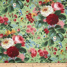 Kaffe Fassett Collective Grandi Floral Natural Fabric