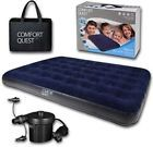 Double Size Airbed Inflatable Camping Blow Up Mattress Air Bed And Electric Pump