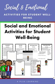 Social and Emotional Activities for Student Well-Being Bundle Conflict Management, Stress Management, School Resources, Classroom Resources, Classroom Organization, Classroom Management, High Emotional Intelligence, Team Building Activities, Character Education