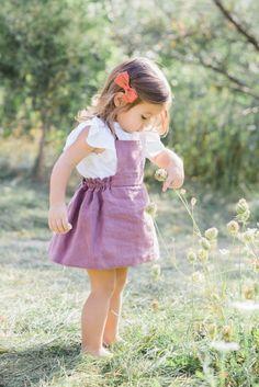 Handmade Linen Dress | moonroomkids on Etsy