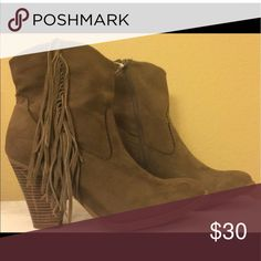 Sold Boots w/tassels Shoes Heeled Boots