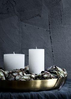 Broste Copenhagen Christmas AW14 #natural #christmas #candles #wreath #metallic…