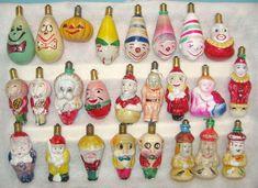 Antique Christmas Light Bulbs Figurals People
