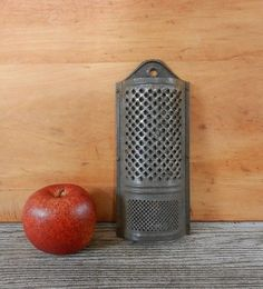 Antique Grater Half Round & Punched Holes from Old Barn Wall Hanger Grater