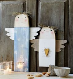 Check out some of the most awesome Christmas crafts for kids that theyll absolutely love making over the festive season Wooden Christmas Decorations, Christmas Wood, Christmas Crafts For Kids, Book Crafts, Christmas Angels, Holiday Crafts, Christmas Time, Diy And Crafts, Christmas Ornaments