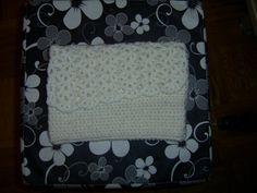 white neceser - envelope bag  beli neseser-torbica