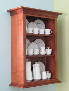 Handmade Walnut Wall Mounted China Cabinet By MaurerFineWoodWorks