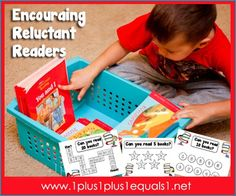 {free} Reading Motivation Charts to help encourage reluctant readers to read more!