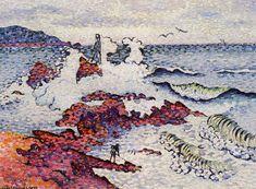 アンリ=エドモン・クロス Henri-Edmond Cross : The Mediterranean, East Wind Cross Canvas Art, Canvas Art Prints, Cross Art, Cross Paintings, Paintings I Love, Henri Matisse, Munier, East Wind, Georges Seurat