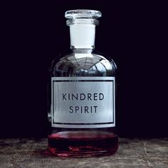 kindred spirit etched apothecary bottle | [vinegar and brown paper]®