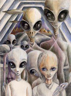 Extraterrestrial Civilizations Aliens And Ufos, Ancient Aliens, Alien Photos, Alien Drawings, Grey Alien, Alien Abduction, Space Aliens, Alien Art, Science Fiction Art