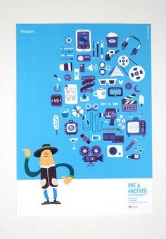 #Design #OneNAnother #SKplanet #Goods #Poster #hoppin #InchulCha