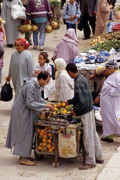 Fez, Morocco - Oranges in the Bab El-Mahrouk Market.