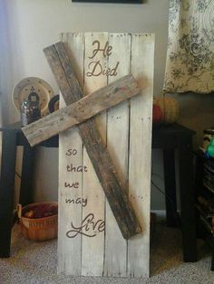 He died so that we may live. Wooden #Cross / #tvcpinehurst