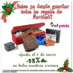 PROMOCIÓN NAVIDAD: ¿Sabes ya dónde guardar todos los regalos de Navidad? www.pufymas.es #navidad #promo #arcones