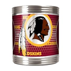 This is not your average can coozie.  The Washington Redskins Stainless Steel Can Coozie with thick foam inner liner keeps your can colder longer, and the stainless steel exterior only gets better with the high definition metallic Redskins NFL graphics!