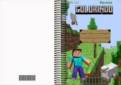 Kit Artes Digitais Gratuitas para download, convite aniversário Minecraft, livrinho para colorir Minecraft, Cone para guloseimas, etc...