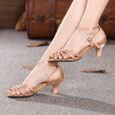 Ladies-Latin-Salsa-Ballroom-Dance-Heels-Shoes-Indoor-Soft-Sole-Dancing-Sandals