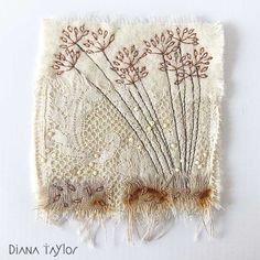 Goodness, it hardly seems possible a whole year has passed by and I am now back to working on my winter garden embroideries!   These two...