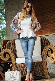 Topshop  Tanks, Topshop  Blazers and Zara  Jeans